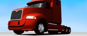 Matte Painting - Bad Boys 2 - Red truck by Black-Metz