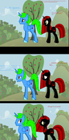 Another Red Shadow comic: Molestia aftermath by thequeenalien