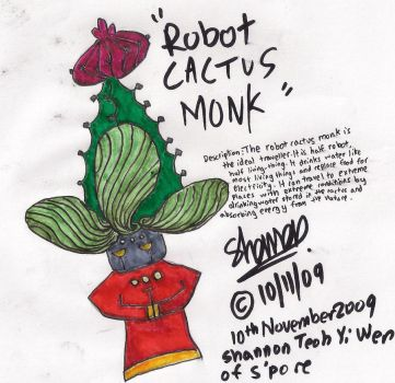 Robot Cactus monk by PlanetPlant