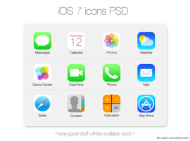 iOS 7 icons PSD by WillViennet