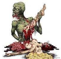 Zombie Whore Feast by GleamofDreams