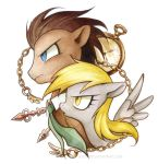 Dr. Whooves and Derpy by miszasta