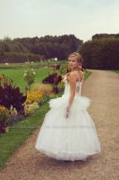 Bride in the park by Estelle-Photographie