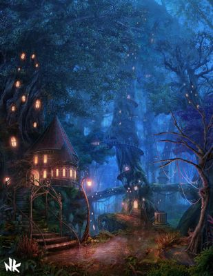Tree House Forest by Namkoart