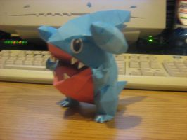 Gible papercraft by NinjaKirby144