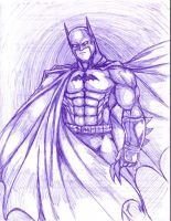 Batman done with a normal pen by OutlawTornDOA