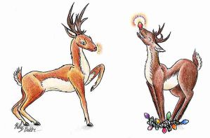 Reindeer 2001 by Moundfreek