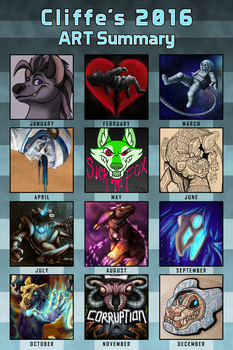 2016 Art Summary by CliffeArts
