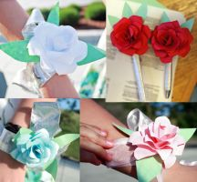 Origami Corsages and Boutonnieres by fortehhorde