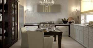 Kitchen interior by zipper