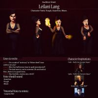 Leilani Audition Sheet by IsaiahStephens