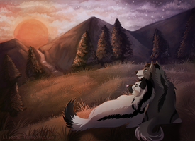 -Commission- Watching the Sunset by Makirou