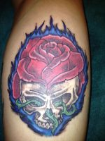 Skull Rose Fire by mcnasty6971