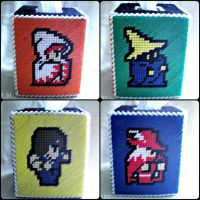 Final Fantasy Tissue Box Cover by agorby00