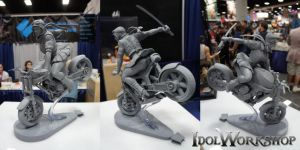 Bombshell: Bike Chick Triptych by poboyross