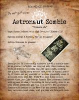 Astronaut Zombie Bio File1 by HexZombies