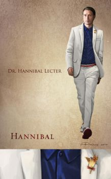 Hannibal Lecter - Costume sketch by AlessiaPelonzi