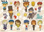 STICKERS Professor Layton by Vulpixi-Misa