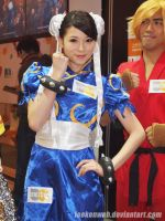 street fighter x tekken - chun li and ken by leekenwah