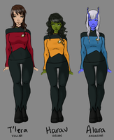 U.S.S. Alexandria Officers by Jheda
