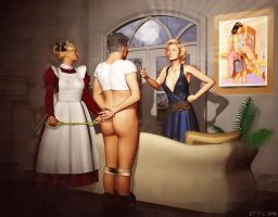 image Chastity sissy tongue slave for mona wales femdom feet