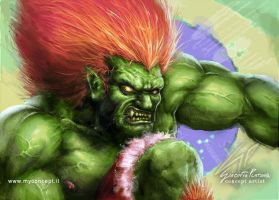 Blanka Street Fighter Fan art by giaci78