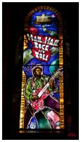 Hail Rock Roll Stained Glass by DleeKirby
