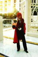 Katsucon 2013 - Grell Cosplay - Gazebo by Animegirl300