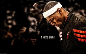 LeBron James '1 More Game' Wallpaper by rhurst