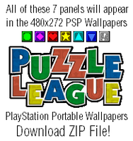 Puzzle League PSP 480x272 Wallpapers by TheWolfBunny