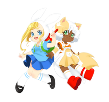 Fionna and Cake by ManouAzumi