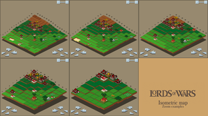 Isometric map with new city icons by spasquini