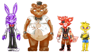 Fnaf Characters In My Style by sheezy93