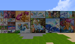 Alternative Minecraft Paintings (Theme: MLP) by Ariakus89