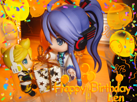 Happy b-day Len by AxelNobody8akuroku