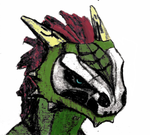 Argonian Skull Face Paint Colored by Rolledupsocks