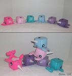Rainbow Narwhals by beanchan