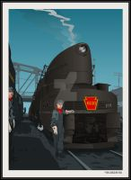 PRR T1 6110 at Pittsburgh by yankeedog