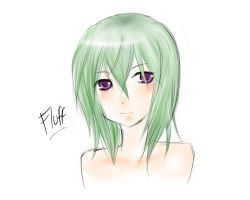 Green Hair by fluff-kun