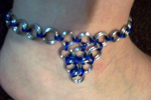 Blue and Silver Chain Anklet by CjiadonBast