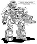 Battletech: Thunderbolt IIC by Mecha-Zone