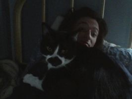 Me n Cat by Champineography