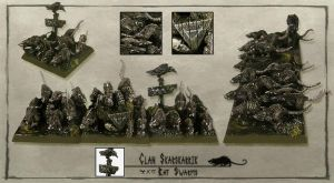 Skaven Rat Swarms by Shivani11