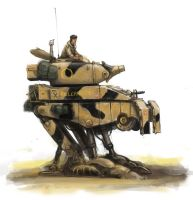 British M2 walker, Operation Babylon Camo by MasterAlighieri