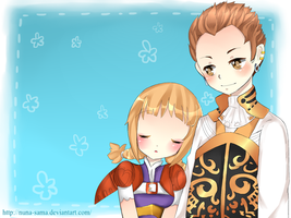 commission-Balthier and Penelo by NEZUMI-NA