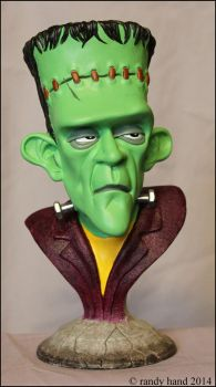 Frankenstein's Monster-bust color version by RandyHand
