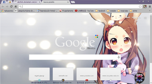 Conejo anime theme google chrome by alechivis