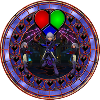 Dark Riku Stained Glass by Maleficent84