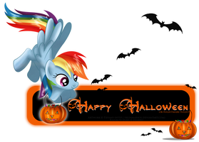Halloween Rainbow card by selinmarsou