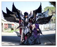 Pandora and Hades - Saint Seiya II by SilviaArts